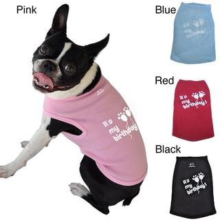 'It's My Birthday' Cotton Dog Tank Top