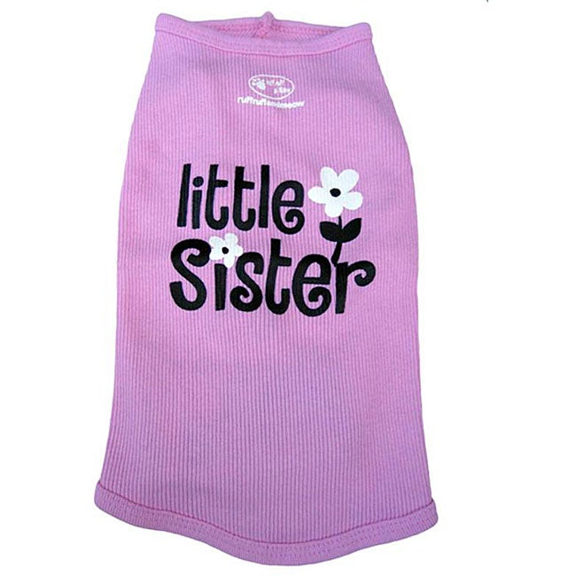 'Little Sister' Cotton Dog Tank Top