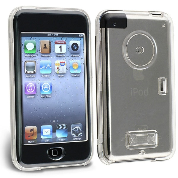 INSTEN Clear Snap-on iPod Case Cover with Belt Clip for iPod Touch