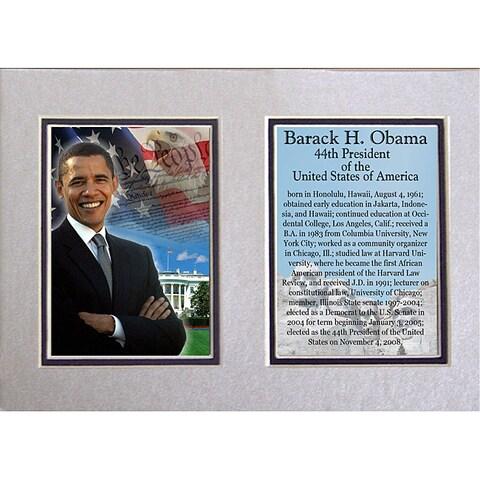 Barack Obama 5x7 Double-matted Photo Print