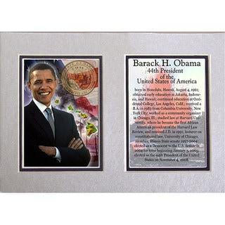 President Barack Obama Double-matted 5x7 Photo Print