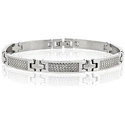 Mondevio Stainless Steel Men's X-shaped Link Bracelet