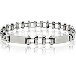 Mondevio Stainless Steel Men's Bike Chain Link Bracelet