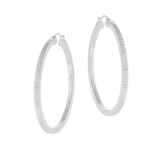 Mondevio Sterling Silver Hoop Rigged Earrings