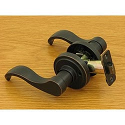 Dark Oil-rubbed Bronze Door Lever Passage Set