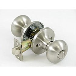 Satin Nickel Mushroom Privacy Set Doorknob