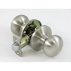 Satin Nickel Mushroom Passage Set Doorknob