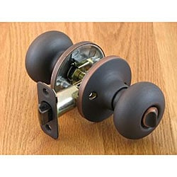 Oil-rubbed Bronze Mushroom Privacy Set Doorknob