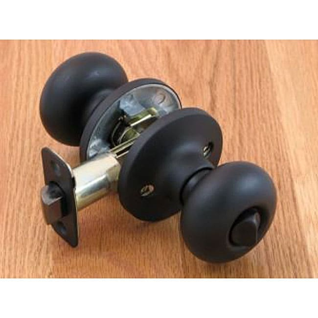 Matte Black Door Knob Privacy Set Free Shipping On