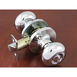 Polished Chrome Doorknob Privacy Set