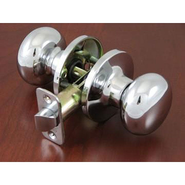 Polished Chrome Doorknob Passage Set 11736319