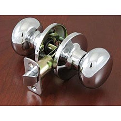 Polished Chrome Doorknob Passage Set