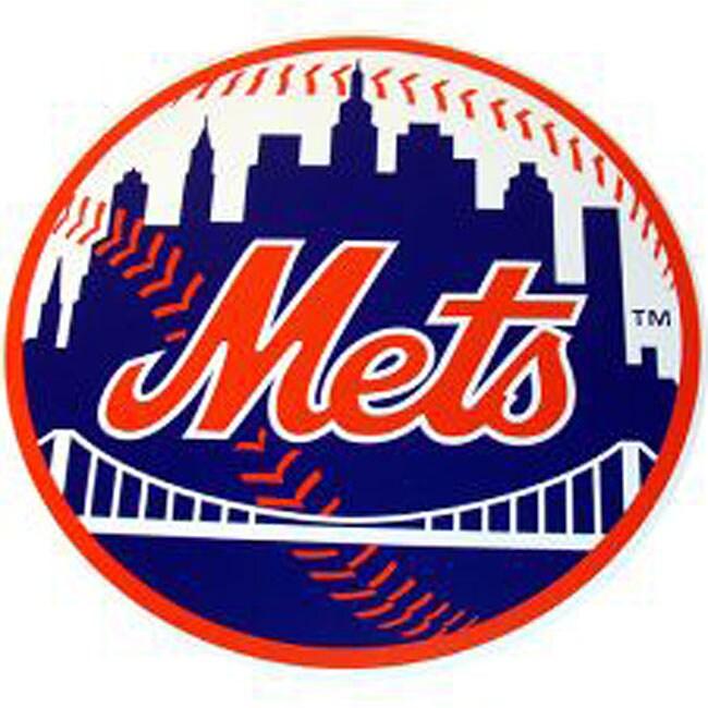 New York Mets 18-inch Wood Logo Plaque