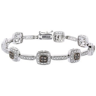 DB Designs Sterling Silver 2/5ct Diamond Link Bracelet