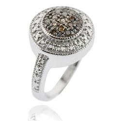 DB Designs Sterling Silver 1/6ct TDW Brown Diamond Ring - Thumbnail 1