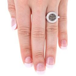 DB Designs Sterling Silver 1/6ct TDW Brown Diamond Ring
