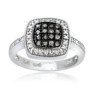 DB Designs Sterling Silver 1/5ct TDW Brown Diamond Square Ring (More options available)