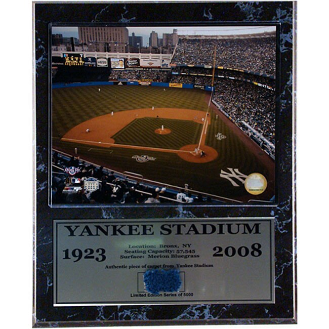 Yankee Stadium 1923 - 2008 Baseball Dugout Carpet Plaque (12' x 15')