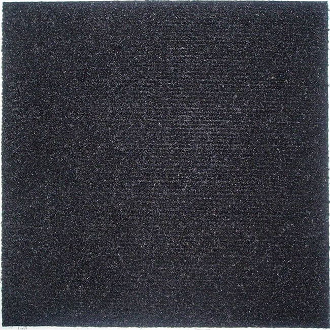 Do It Yourself Black Carpet Tiles 144 Square Feet Free
