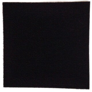 Do It Yourself Black Carpet Tiles (144 Square Feet)
