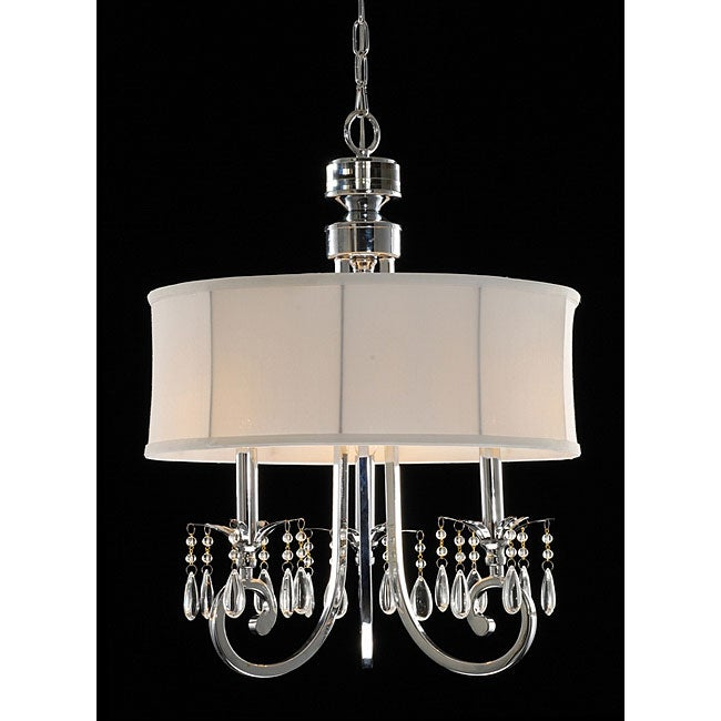 Fabric Shade 3light Crystal Chandelier Free Shipping Today – Crystal Chandelier with Shade