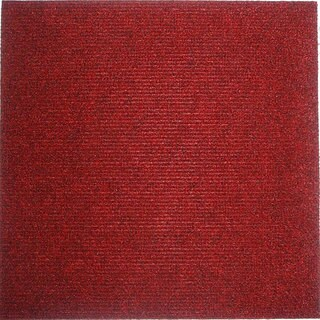 Do It Yourself Red Carpet Tiles (144 Square Feet)