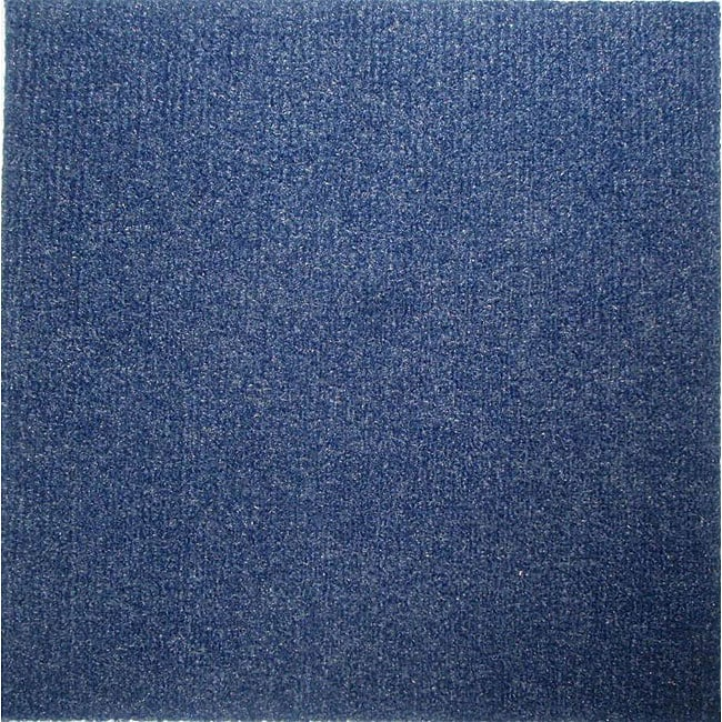 Do It Yourself Blue Carpet Tiles 144 Square Feet   Free Shipping