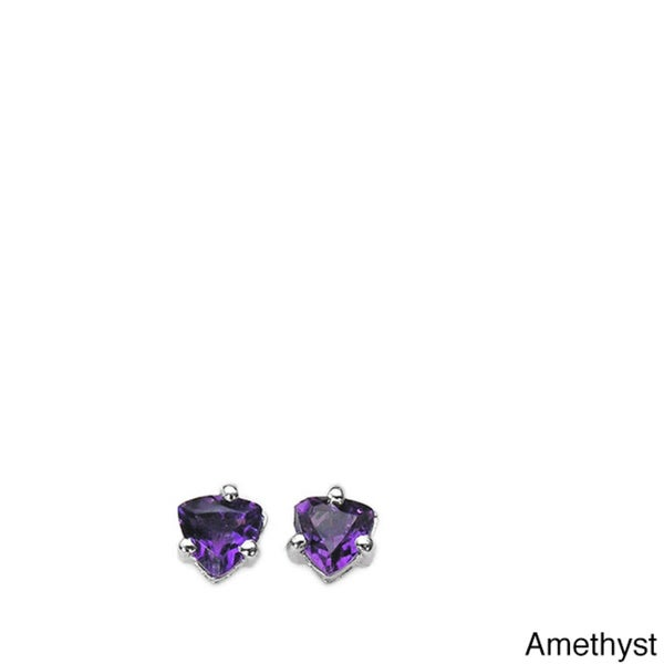 Malaika Sterling Silver Gemstone Stud Earrings