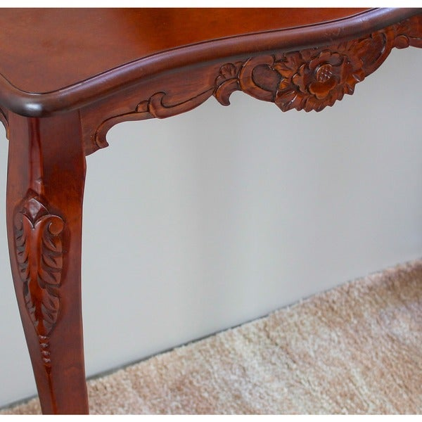 International Caravan Windsor Carved Wood Wall Table   Free Shipping Today    Overstock.com   11743836