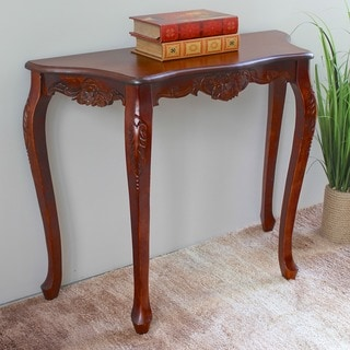International Caravan Windsor Carved Wood Wall Table