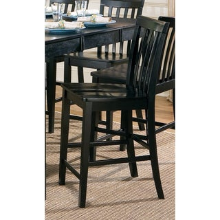 Coaster Company Black Wood Slat-back Counter Stools (Set of 2)