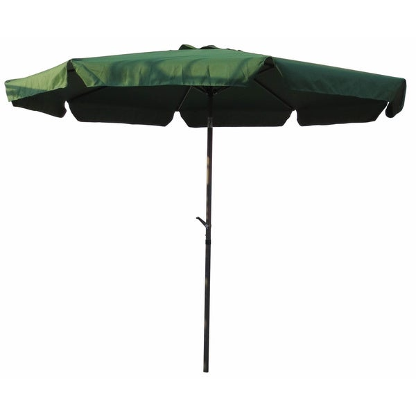 International Caravan Aluminum 10 Foot Patio Umbrella   Free Shipping Today    Overstock.com   11744065