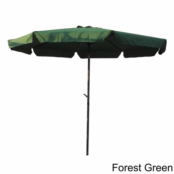 International Caravan Aluminum 10 Foot Patio Umbrella   Free Shipping Today    Overstock.com   11744065