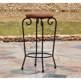 International Caravan Iron 29-inch Bar Stools with Microsuede Seat (Set of 2)