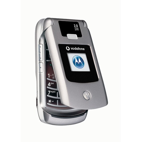 Motorola V3x Silver Razr Unlocked GSM Cell Phone (Refurbished)