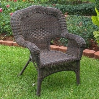 International Caravan Chelsea Resin Wicker Patio Dining Chair