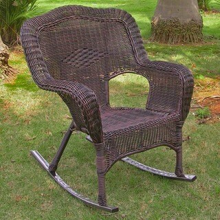 International Caravan Chelsea Resin Wicker Porch Rocker