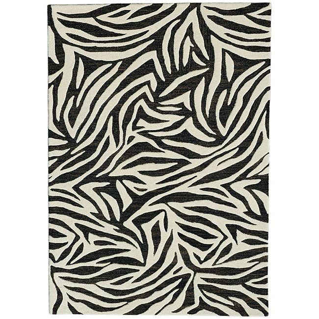 Hand-Tufted Wool Area Rug - 5' x 8'
