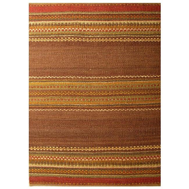 Hand-woven Jute Rug - 5' x 8'