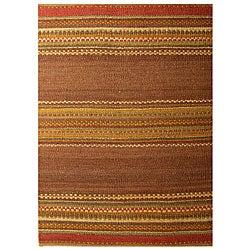 Hand-woven Jute Rug (5' x 8')
