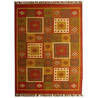 Hand-woven Nihon Jute Wool Rug - 8' x 10'6