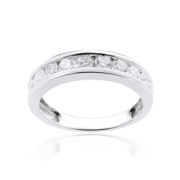 14k White Gold 1ct TDW Channel-Set Diamond Eternity Ringby The Miadora Signature Collection