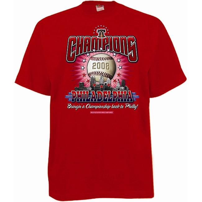 Philadelphia Baseball CIty Champs Bell Red T-shirt