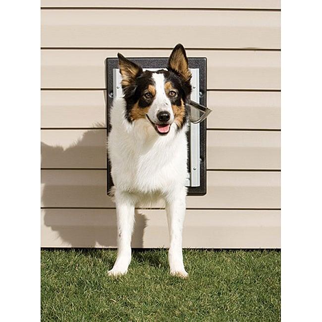 Shop PetSafe Medium Non-rusting Aluminum Frame Wall Entry Pet Door ...