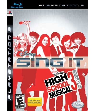 PS3 - Disney Sing It: High School Musical 3: Senior Year (Includes Microphone)