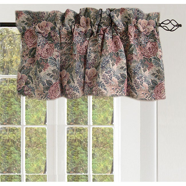 Pastel Floral Valance Pair (54 in. x 18 in.)