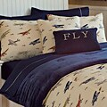Microplush Boys' Printed Vintage Airplane Polyester 3-piece Comforter Set