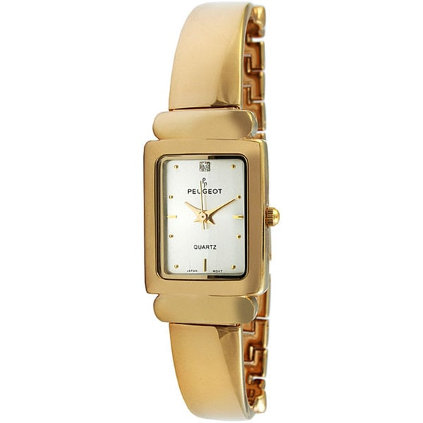 Peugeot Women's Goldtone Half-cuff Watch