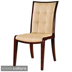 King Leather Dining Chairs (Set of 2)