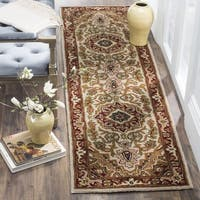 Safavieh Handmade Classic Heriz Gold/ Red Wool Runner (2'3 x 8')